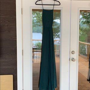 Lulus Hunter Green Maxi Dress
